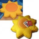 """Coussin forme """"Soleil, déhoussable en tissu à poser/à suspendre, 3 tailles"""