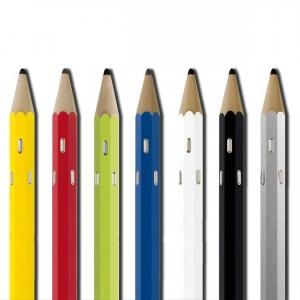 """Porte-manteau mural en forme de """"crayon"""" en bois finition ALU"""
