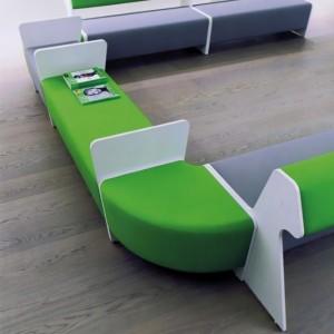 Banc d'angle 90°simple revêtement simili cuir Valencia NON  FEU pour compositions (très large gamme de modules)