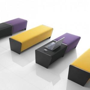 Banc simple L133xP50xH44cm modulable revêtement VALENCIA NON FEU pour compositions