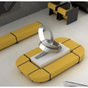 Banc d'angle 450°simple revêtement BOLTAFLEX NON FEU pour compositions (très large gamme de modules)
