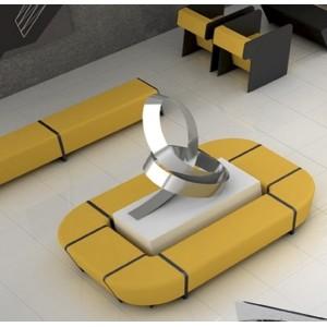 Banc d'angle 45°simple revêtement simili cuir Valencia NON FEU pour compositions (très large gamme de modules)