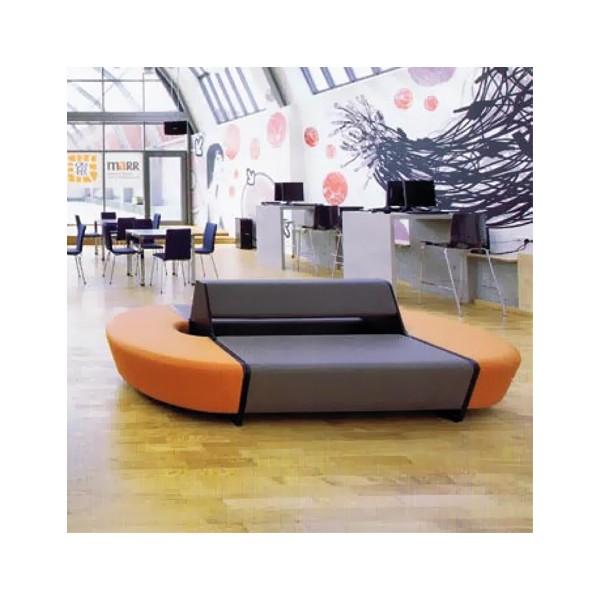 banquette modulable double face 2 x 2 places en boltaflex non feu pour compositions tr s large. Black Bedroom Furniture Sets. Home Design Ideas