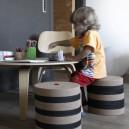 Pouf Enfant en liège composé de 6 galettes rondes diam. 30cmxH20cm