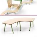 Cabane Enfant multi-activités, modulable spéciale salle d'attente en bois naturel et métal