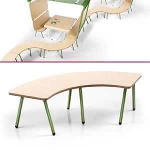 banc incurv pour composition sp ciales salles d 39 attente. Black Bedroom Furniture Sets. Home Design Ideas