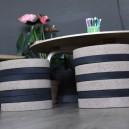 Pouf Enfant H32cm en liège composé de 9 galettes rondes diam. 30cm