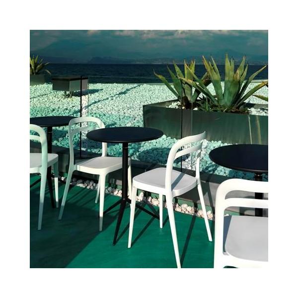 Table ronde bistrot pour ext rieur for Table exterieur design aluminium