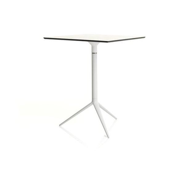 Table carr e bistrot pour ext rieur for Table exterieur avec rallonge