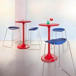 Table basse POP ronde en nylon brillant diam.60cm x h50cm