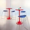 Petite table ronde POP en nylon brillant diam.60cm x h73cm
