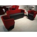 Canapé enveloppant design 2 places tout tissu dim.L130xP60xH70/40cm