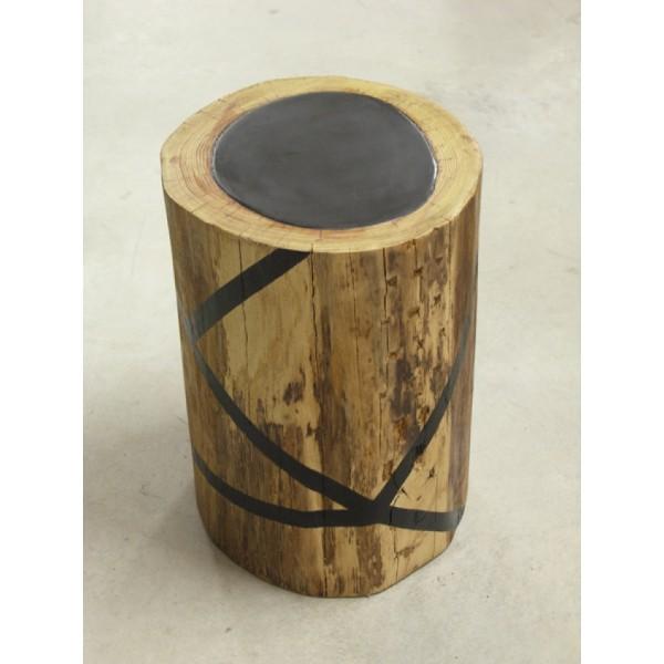 Table basse en tronc - Customiser table basse en bois ...