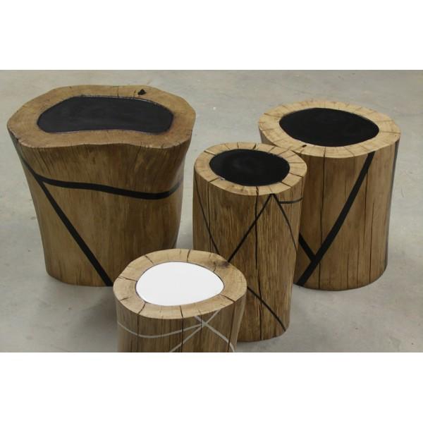 Table basse en tronc - Table basse en resine ...