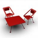 Table basse 100x100cm pour EXTERIEUR ou INTERIEUR  en acier, ligne très épurée