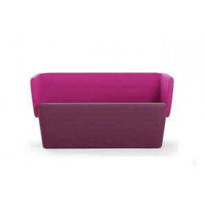 Canapé bas enveloppant design 2 places simili cuir NON FEU dim.L130xP60xH70/40cm