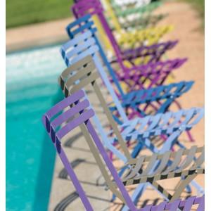Chaise pliante  d'EXTERIEUR intemporelle en métal EXCELLENTE QUALITE