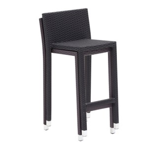 tabouret haut d 39 ext rieur dossier haut style cocotiers en rotin synth tique repose pieds. Black Bedroom Furniture Sets. Home Design Ideas