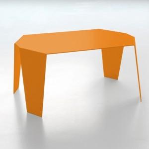 Petite table basse DESIGN tout métal monobloc de couleur vive dim. l58xl43xH28cm 6 coloris