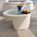 Table basse design RONDE pour EXTERIEUR OU INTERIEUR  en Polyéthylène couleur Dim. 90X74XH35cm