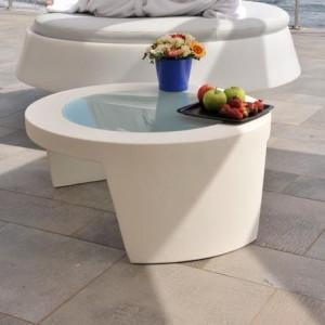 Table Basse Design Ronde Exterieur Interieur