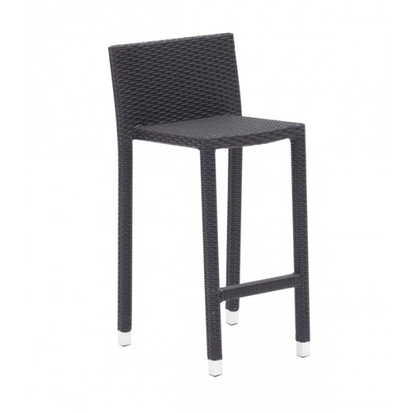 tabouret haut d 39 ext rieur dossier haut style contemporain. Black Bedroom Furniture Sets. Home Design Ideas