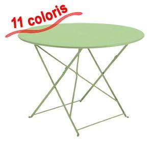 Table ronde d\'EXTERIEUR pliante en métal