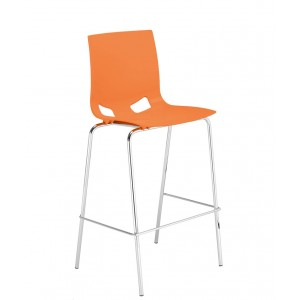 chaise coque haute fun sur 4 pieds m tal. Black Bedroom Furniture Sets. Home Design Ideas