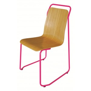 Chaise Coque DESIGN Style VINTAGE Sur Pietement Metal Epure 13 Coloris