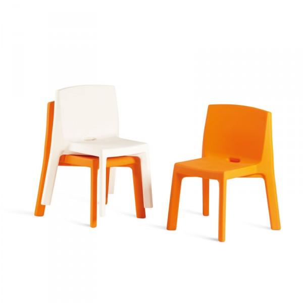 Chaise 4 Pieds Design MONOBLOC Pour INTERIEUR Ou EXTERIEUR En Polythylne Couleur