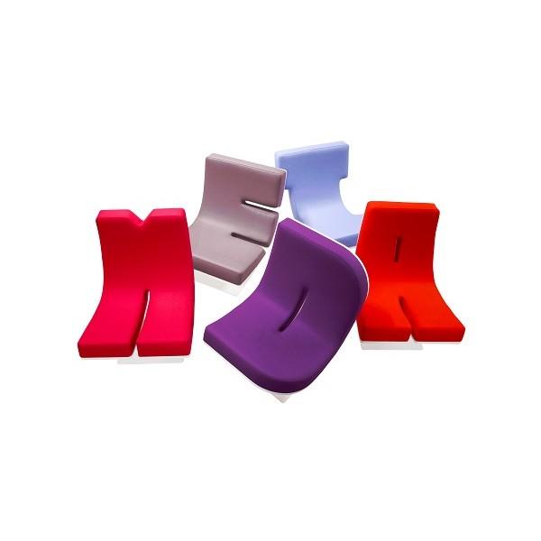 fauteuil forme lettre mod le adulte. Black Bedroom Furniture Sets. Home Design Ideas