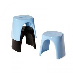 Tabouret ou mini Table basse design POP empilable pour INTERIEUR ou EXTERIEUR en Polyéthylène couleur