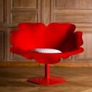 Fauteuil POPPY très DESIGN et ORIGINAL en forme coquelicot, dim. L108x9p75xh87cm, 11 couleurs au choix