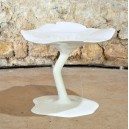 table basse fleur ORIGINALE en matériaux composites diam.45cmxh40cm