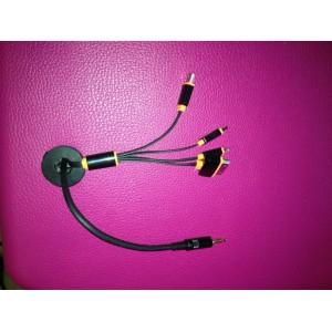 Câble multi-embouts pour recharge de smartphones pour le SILENT SOUND CENTER