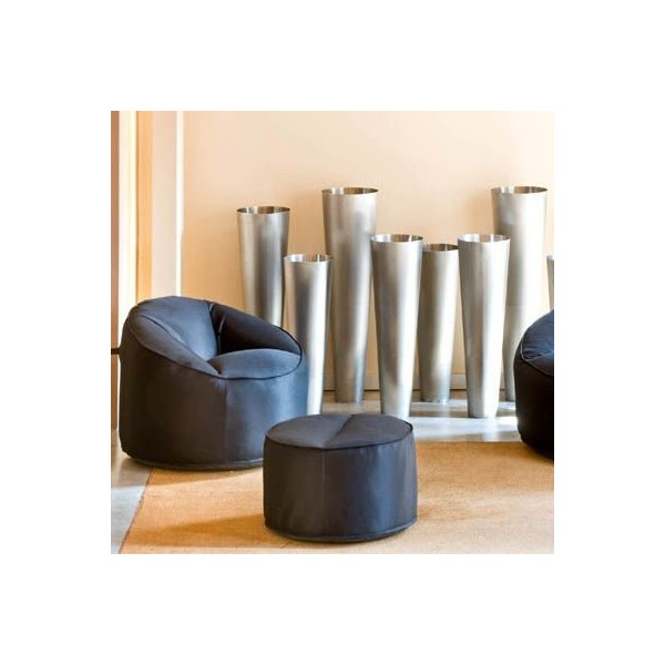 Pouf moelleux ultra confort - Chauffeuse simili cuir ...