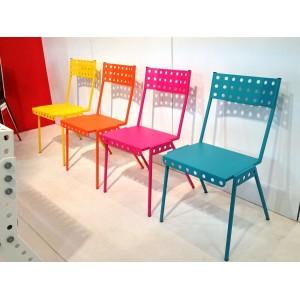 Chaise ADULTE DESIGN Style Atelier Workshop Tout Metal 40x40xh45cm