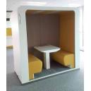 Cabine acoustique DUO position assise, double spéciale openspace, pour travailler, SEMi-OUVERTE