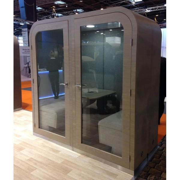 Cabine acoustique double duo cabine duo ferm e - Porte vitree acoustique ...