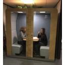 Cabine acoustique QUATRO pour 4 personnes, spéciale openspace, pour travailler, FERMEE