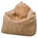 """Fauteuil """"poire""""enveloppant adulte moelleux en mousse, revêtement tissu """" liège"""""""