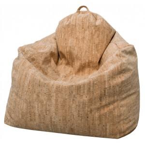 """SOLDE Fauteuil """"poire""""enveloppant adulte moelleux en mousse, revêtement tissu """" liège"""""""
