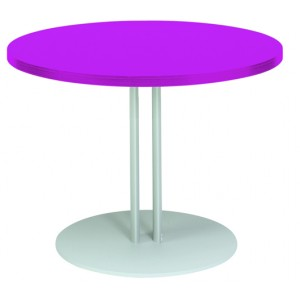 table basse eco ronde 60cm socle rond. Black Bedroom Furniture Sets. Home Design Ideas