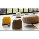 Pouf design étroit 1 place en polyuréthane souple couleur assise H 40cm INDOOR/OUTDOOR