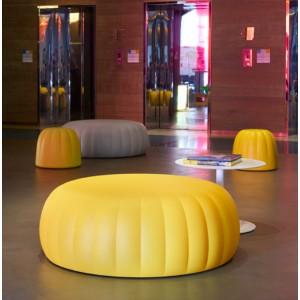 Pouf design EXTRA-LARGE en polyuréthane souple couleur assise H 40cm indoor/outdoor