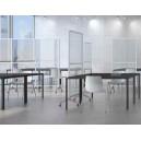 Cloison de protection/séparation sur roulettes transparente ou opaque blanche pour séparer facilement les espaces