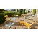 Repose-pieds/table basse assorti au fauteuil détente position semi-allongée avec accoudoirs 22230