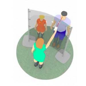 Cloison de protection haute avec 4 perforations pour TESTS TEMPERATURE