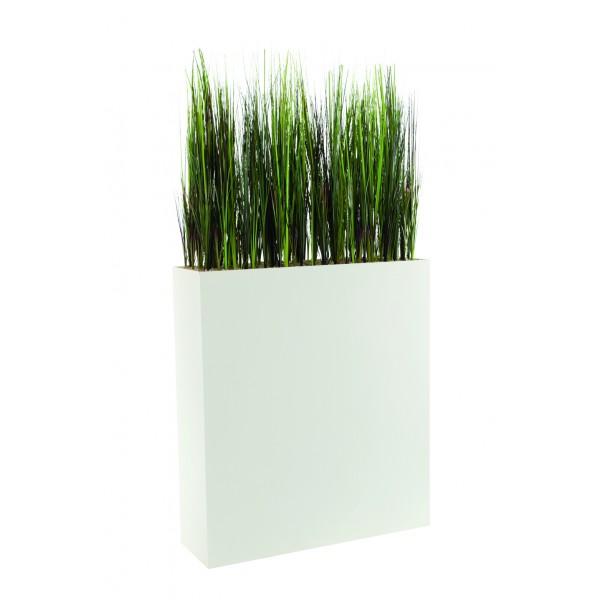 Jardini re haute garnie d 39 herbes hautes artificielles for Plante verte haute exterieur